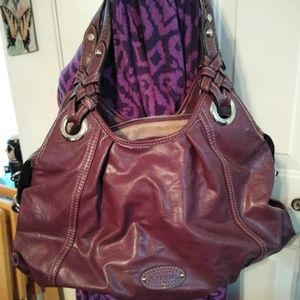 Large Purple Leather Nine West Bag